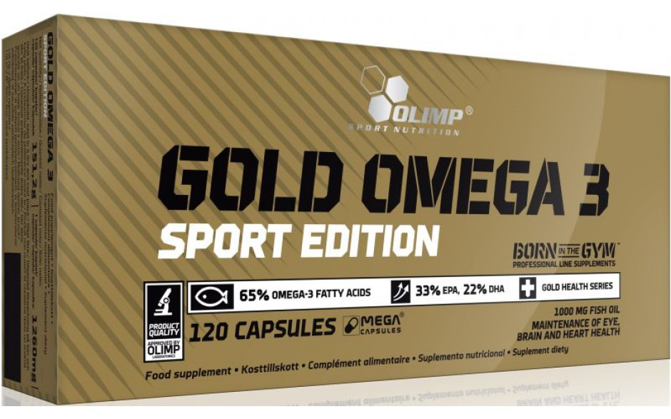 Olimp Omega-3 Gold Sports Edition - 120 Kapseln