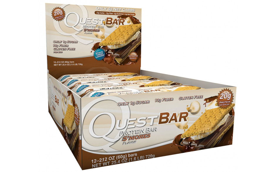 Quest Nutrition Quest Bar - 12 x 60g Riegel-s'mores