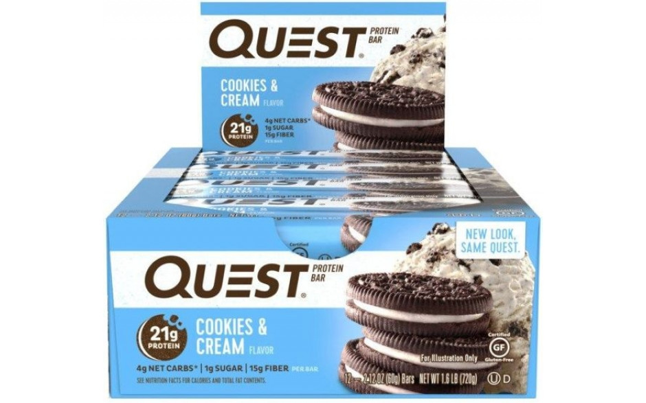 Quest Nutrition Quest Bar - 12x 60g Riegel