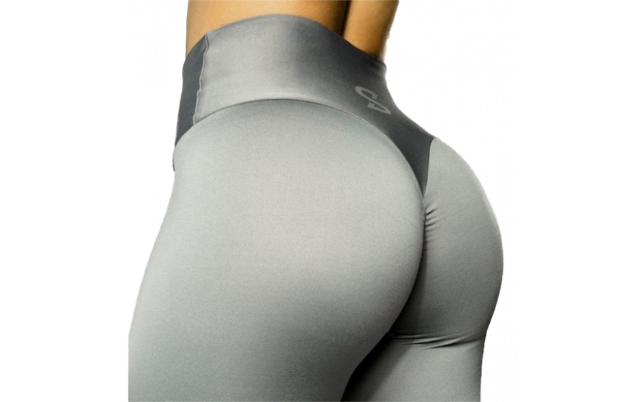 S-Shaped Leggings SARA Premium High Compression - Silver Grey