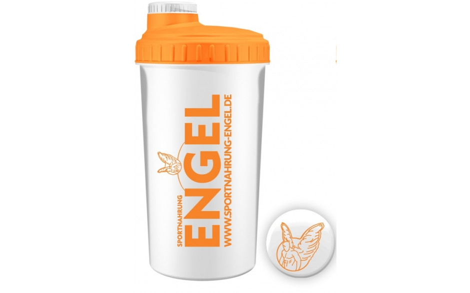 Sportnahrung-Engel Shaker 2.0 - Weiß Orange
