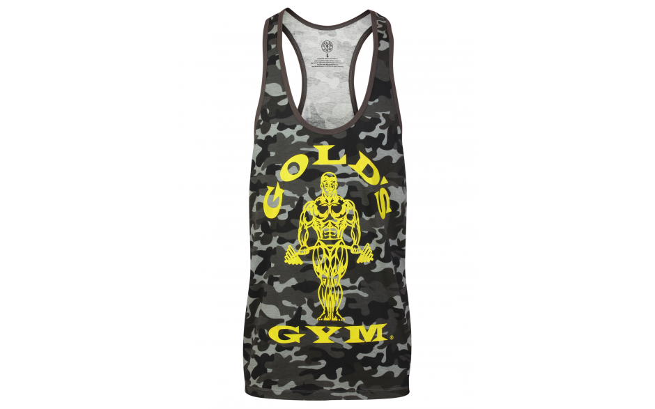 Golds Gym Muscle Joe Premium Tank  - camo black