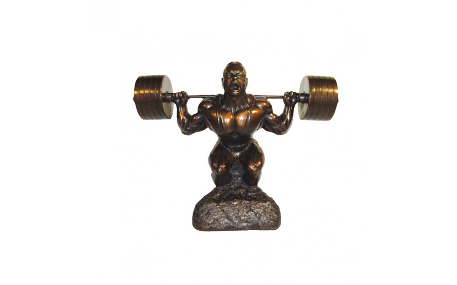 Bodybuilding Skulptur Man - Powerlifting Squat