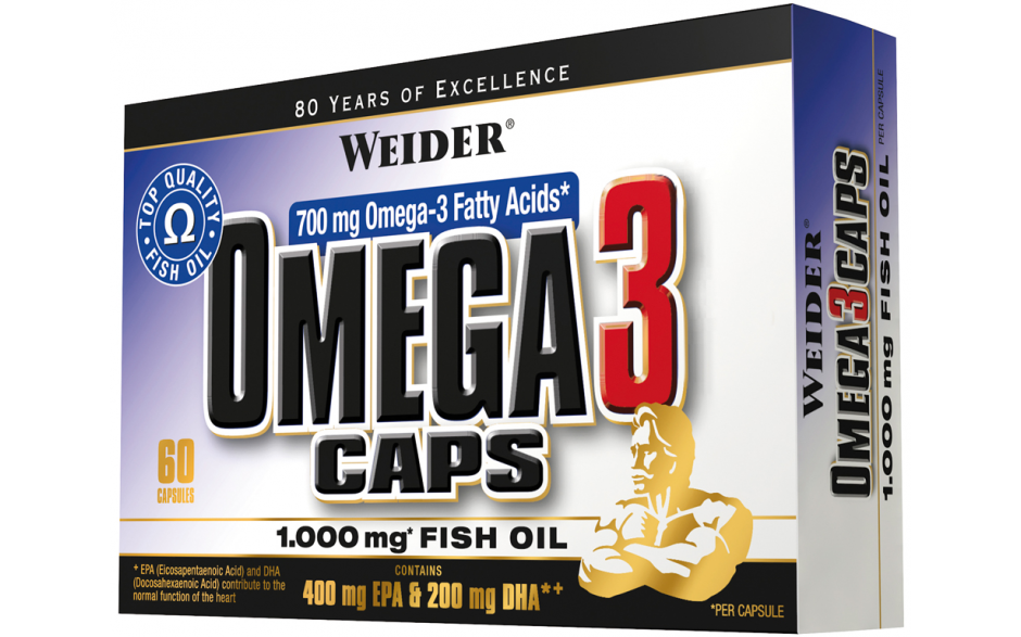 Weider Omega 3 Caps - 60 Kapseln