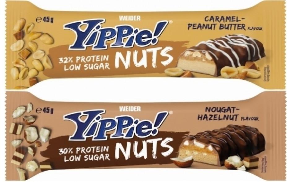 Weider Yippie! Nuts - 45 g Riegel