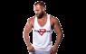 Fitnessvictim Men Classic Crosshair Stringer - weiß