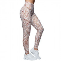 Anarchy Apparel Compression Leggings Mumbai - white/brown