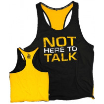 Dedicated Nutrition Stringer Not Here To Talk - Yellow Black
