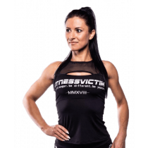 Fitnessvictim Women Mesh Workout Tank - black