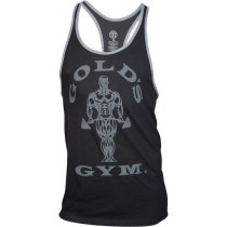 Golds Gym Muscle Joe Contrast Stringer Tank - black