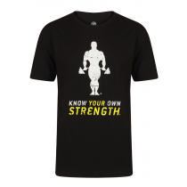 Golds Gym Premium Crew Neck T-Shirt – black
