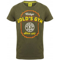 Golds Gym Printed Vintage Style T-Shirt - Army