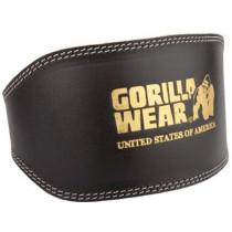 Gorilla Wear Leder Gewichthebergürtel