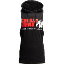 Gorilla Wear Rogers Hooded Tank Top - Schwarz