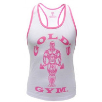 Golds Gym Ladies Loose Fit Stringer - White
