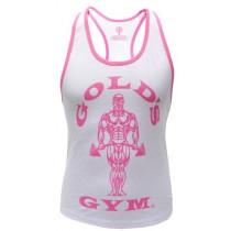 Golds Gym Ladies Loose Fit Stringer - White