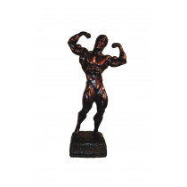 Bodybuilding Figur Man - Double Bizep 36 cm