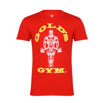 Golds Gym Classic Logo Basic T-Shirt - red