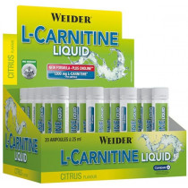 Weider L-Carnitine 1800mg Liquid - 20 Ampullen á 25ml