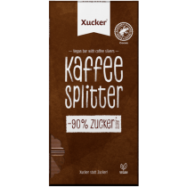 Xucker Vegane Schokolade Kaffeesplitter - 80g Tafel