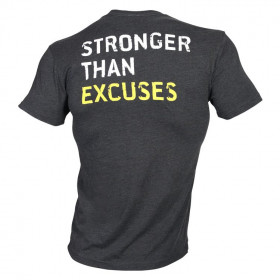 Golds Gym Stronger Than Excuses Tee - dark grey