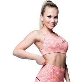 Anarchy Apparel Cushy Sports Bra - Pink/Gelb