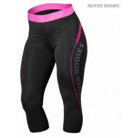 Better Bodies Fitness Curve Capri - Black Pink
