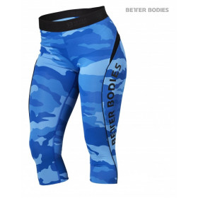 Better Bodies Fitness Curve Capri - Blue Camo