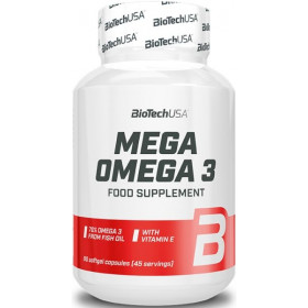 BioTechUSA Mega Omega 3 - 90 Softgel Kapseln