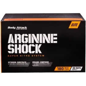 Body Attack Arginine Shock - 180 Kapseln