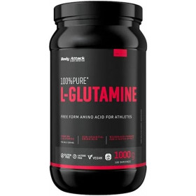 Body Attack 100% Pure L-Glutamine - 1000g