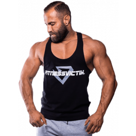 Fitnessvictim Men Classic Crosshair Stringer - schwarz