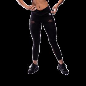 Fitnessvictim Women Black Mesh Victim Leggings