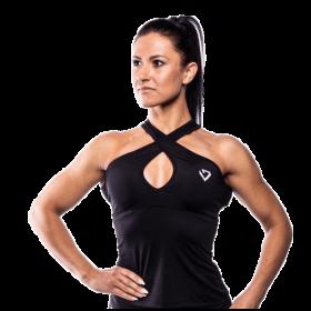 Fitnessvictim Women Cross Neckholder Tank