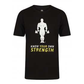 Golds Gym Premium Crew Neck T-Shirt - black