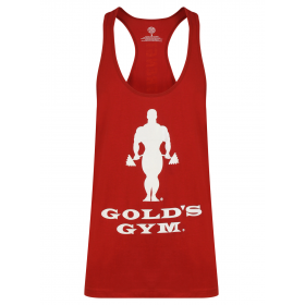 Golds Gym Muscle Joe Slogan Premium Tank - Burgundy