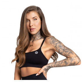 Gym Glamour Seamless Sports Bra - Black