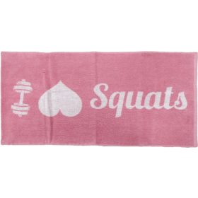 XXL Nutrition Gym Handtuch I Love Squats - Pink White