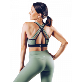 Workout Empire Insignia Bra - Khaki