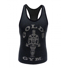 Golds Gym Ladies Loose Fit Stringer - charcoal