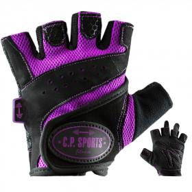 C.P. Sports Lady Gym Fitnesshandschuh - schwarz lila