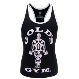Golds Gym Ladies Loose Fit Stringer - Black