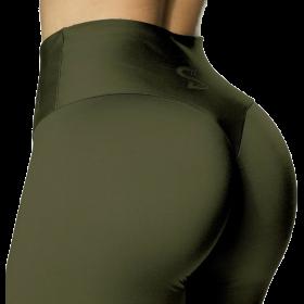 S-shaped Leggings SARA Premium Medium Compression - Olive