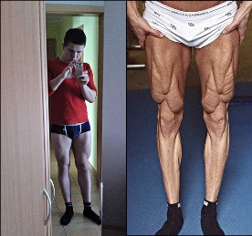Beinvergleich Bodybuilder Edgar Kisler