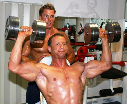 Trainingspartner im Bodybuilding