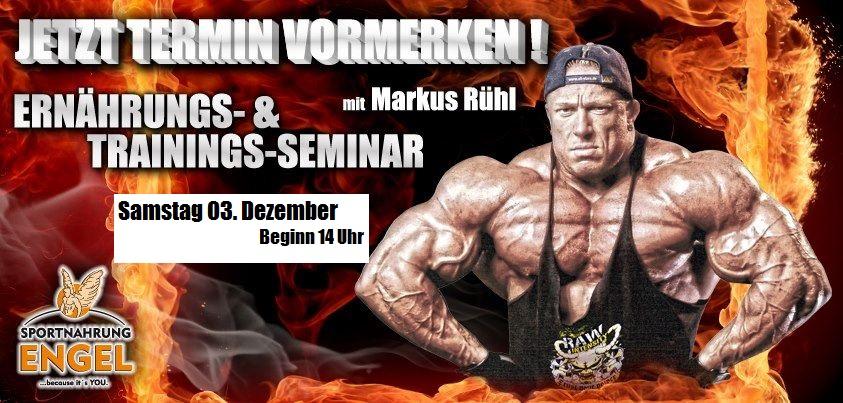 Markus Rühl Seminar bei Sportnahrung-Engel