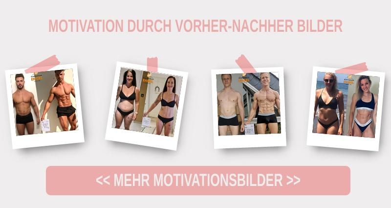 Vorher Nachher Bilder als Motivation