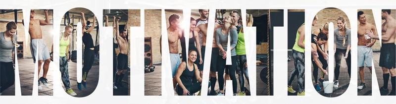 Motivierte Menschen beim Sport