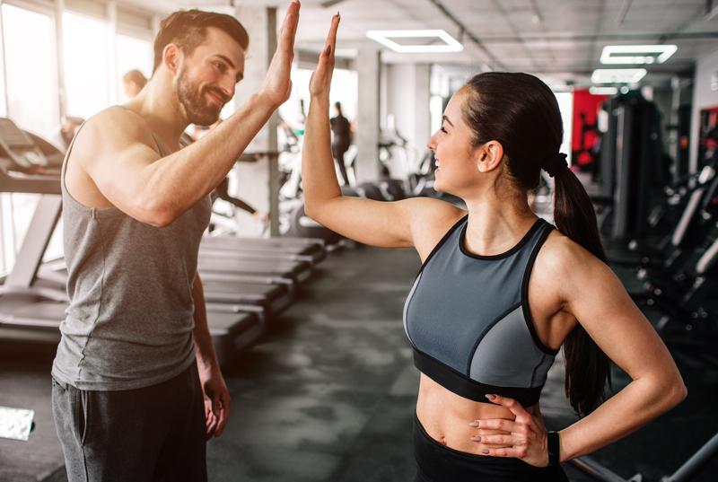 Motivation durch einen Trainingspartner
