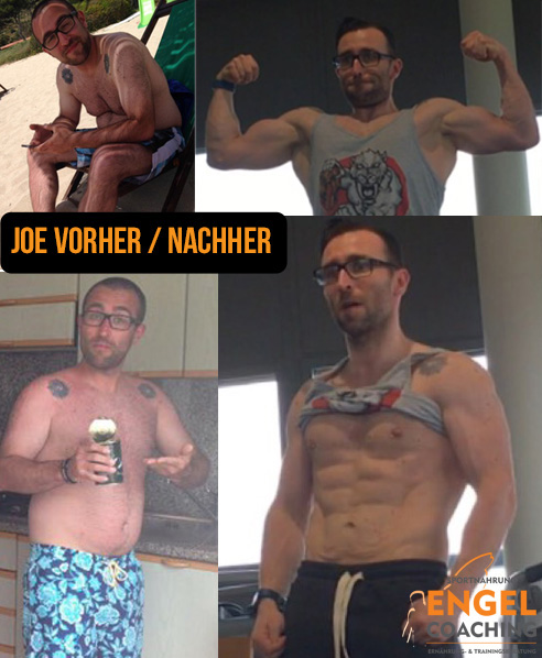 Joe Vorher Nacher mit Sportnahrung-Engel Coaching